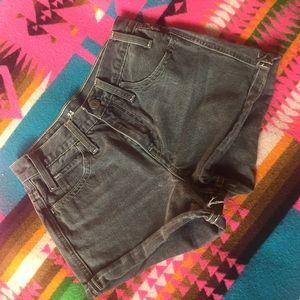Levi's Orange Tab High Waisted Shorts